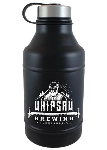 64 OZ. BLACK DOUBLE WALL BARREL GROWLER #DWB-07M Growler sold by Clearwater Gear