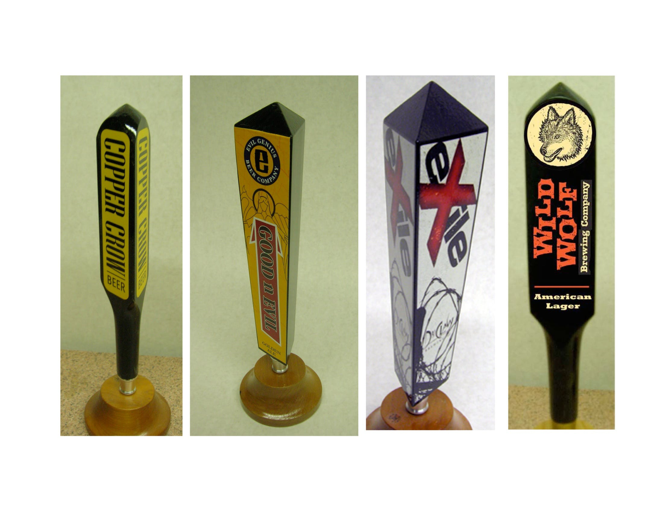 Three Sided Tap Handles  Tap handle sold by Mark Supik & Co.