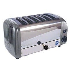 Cadco - CTW6M - Stainless Metallic Grey Toaster - 6 Slots Commercial toaster sold by Elite Restaurant Equipment