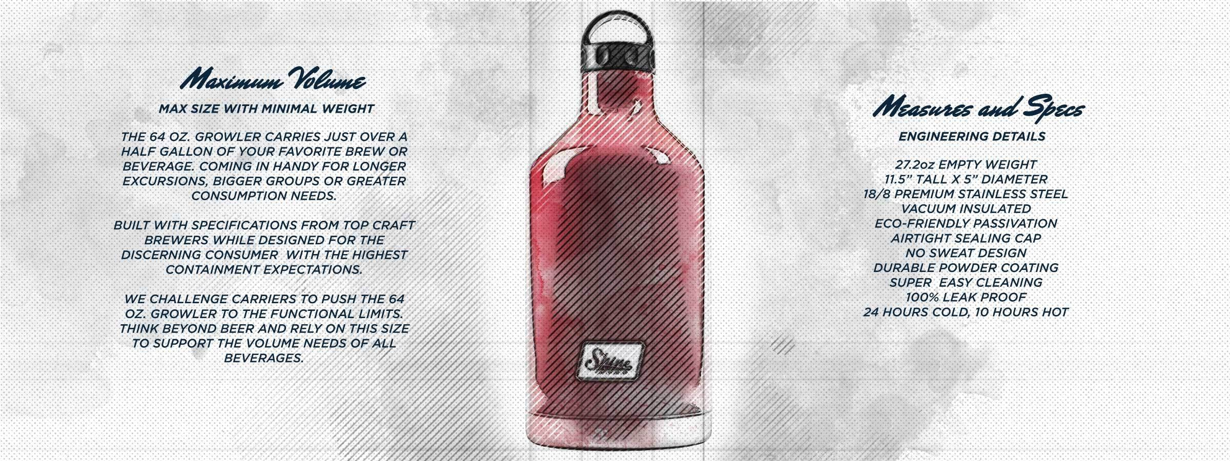 64 Oz. 'We Can Do It' Growler - sold by Shine Craft Vessel Co.