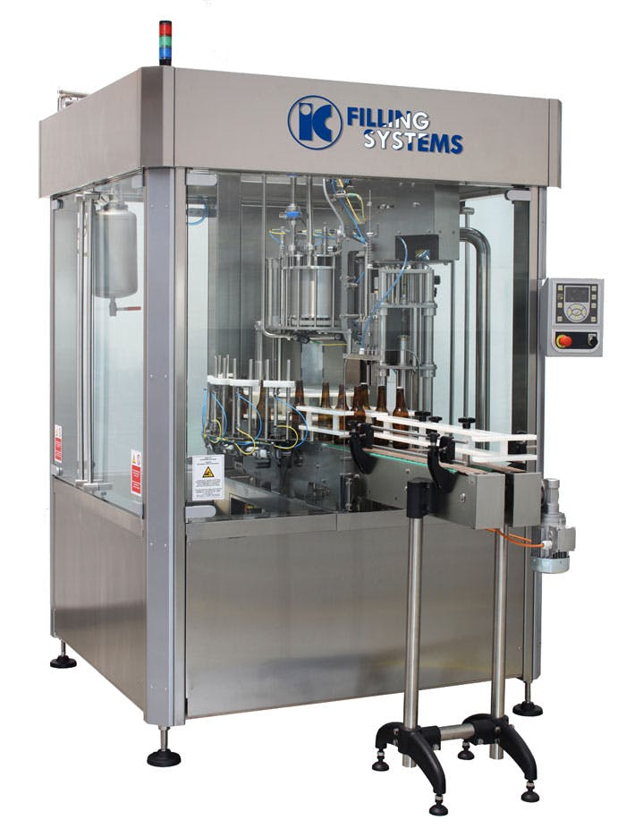 Automatic Rinser Filler Crowner for beer- 1000bph output Bottle filler sold by IC Filling Systems
