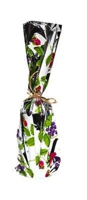 Single Bottle Wine Gift Bag - Grape Design Wine bag sold by SpiritedShipper