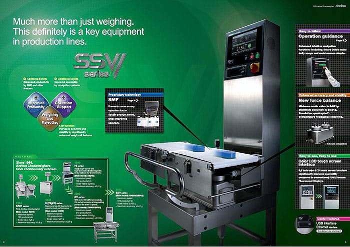 Anritsu SSV Checkweigher - Anritsu Inspection  - Checkweighers - sold by Package Devices LLC