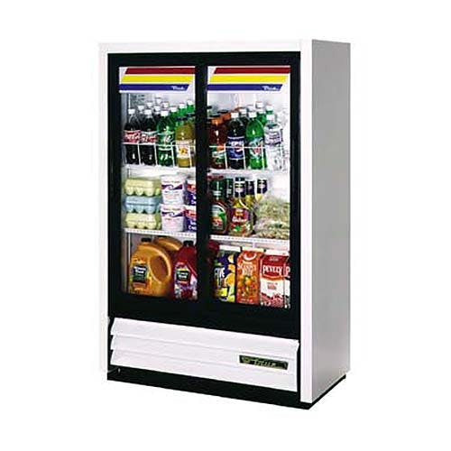 "True - GDM-33SSL-54 36"" Convenience Store Glass Door Merchandiser Refrigerator Commercial refrigerator sold by Food Service Warehouse"
