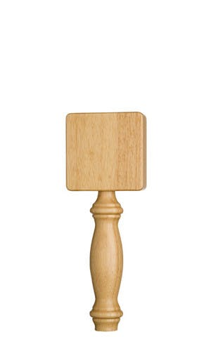 Large Natural Tap Handle with Square Top Tap handle sold by Taphandles LLC