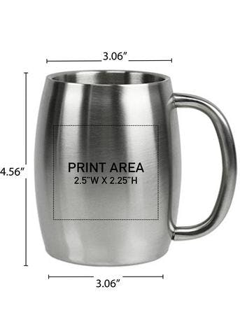 14 OZ. DOUBLE WALL STAINLESS MUG #96-02 Stainless steel mug sold by Clearwater Gear