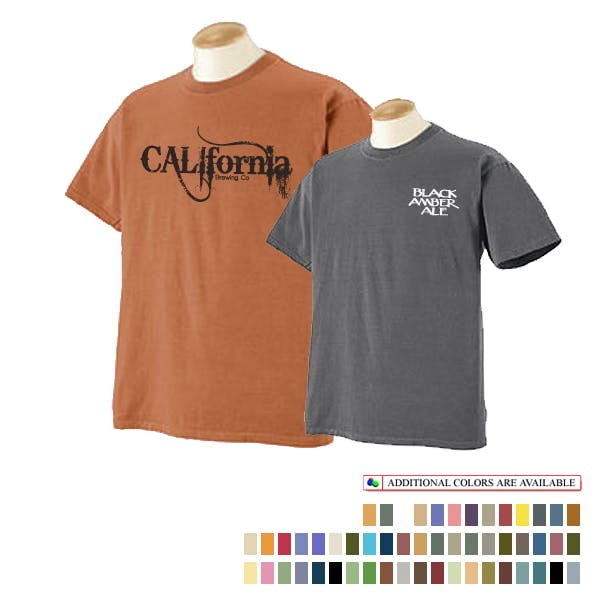 Authentic Pigment 5.6 oz. Pigment-Dyed T-Shirt Promotional shirt sold by MicrobrewMarketing.com