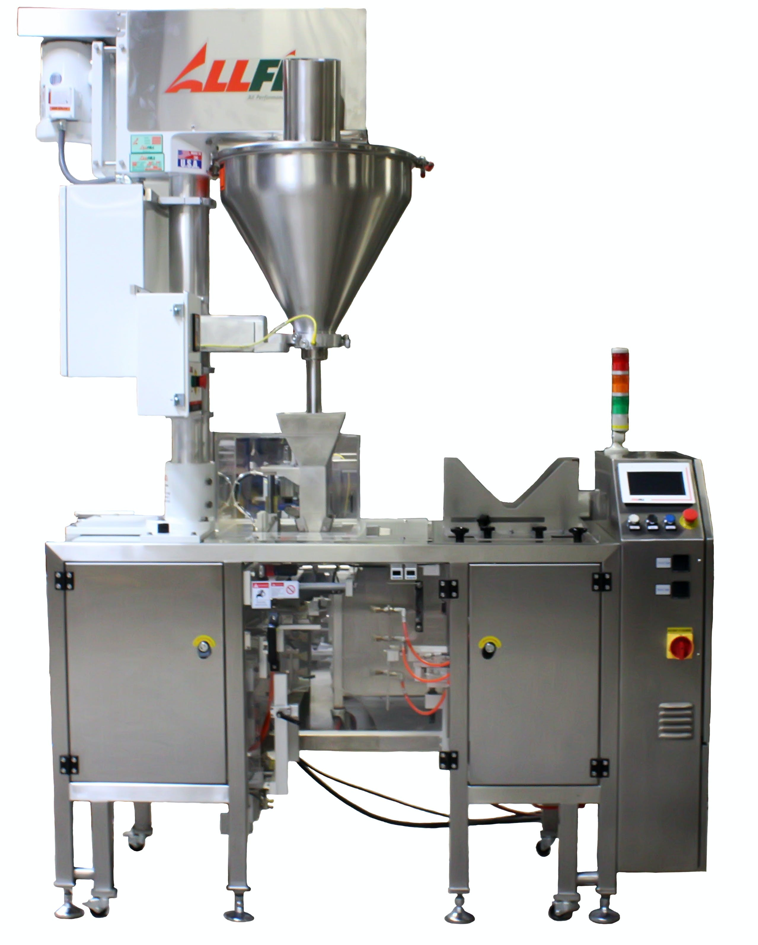 All-Fill B100-PM Premade Poucher Pouch filler sold by Package Devices LLC