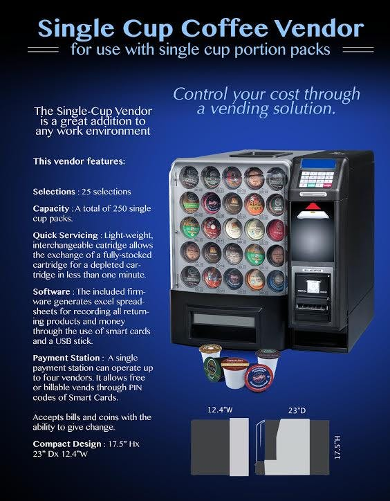 Shermco model 13 coffee vending machine Vending machine sold by Shermco Vending