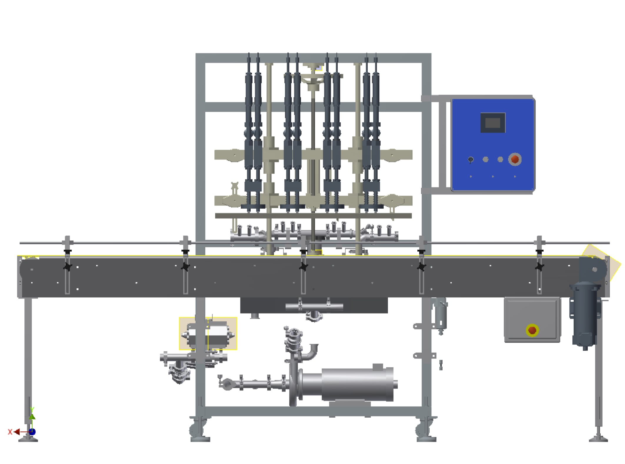 Brine Filling Machine Bottle filler sold by Inline Filling Systems
