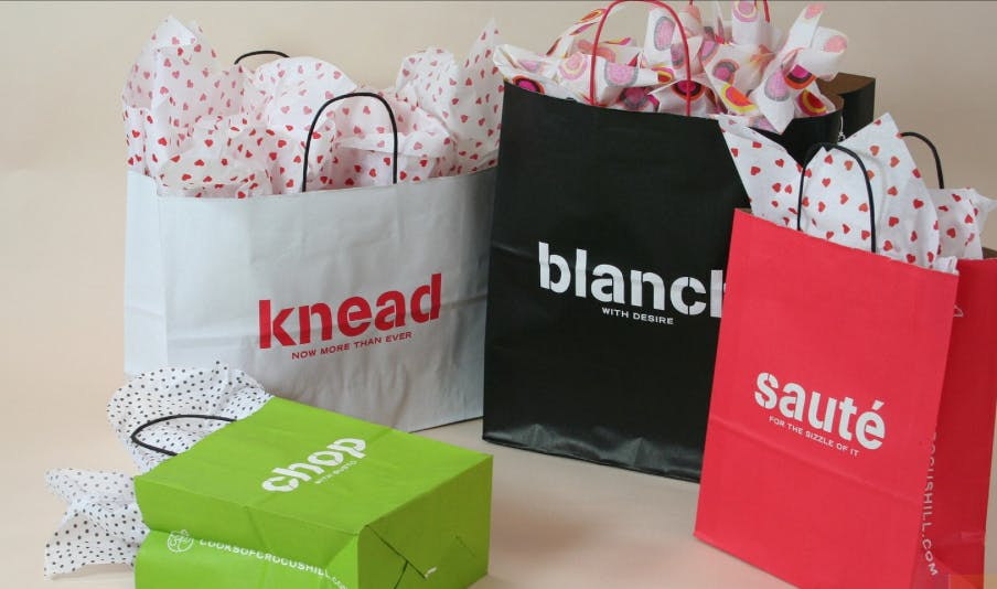 Paper Shopping Bags Custom Printed - Paper Shopping Bags - sold by Howard Packaging