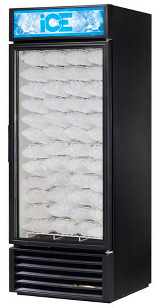 "True (GDIM-26NT-LD) - 30"" Glass Door No-Tank Ice Merchandiser Freezer LED Merchandiser sold by Food Service Warehouse"