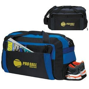 "Duffel Bag 8"" wide x 4"" high front pockets - varitey of bag options - sold by Dechan, Inc. II"