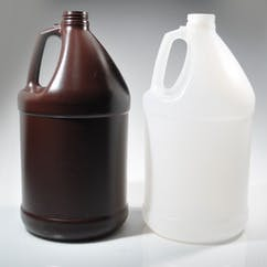 1 gal. Natural Handled Round HDPE Jug (#217689) Plastic bottle sold by Berlin Packaging
