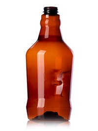 64 oz Amber PET Growler Bottle 38-400 Growler sold by Container and Packaging Supply, Inc.