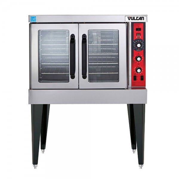 Natural Gas Single Deck Convection Oven w/ Solid State Controls