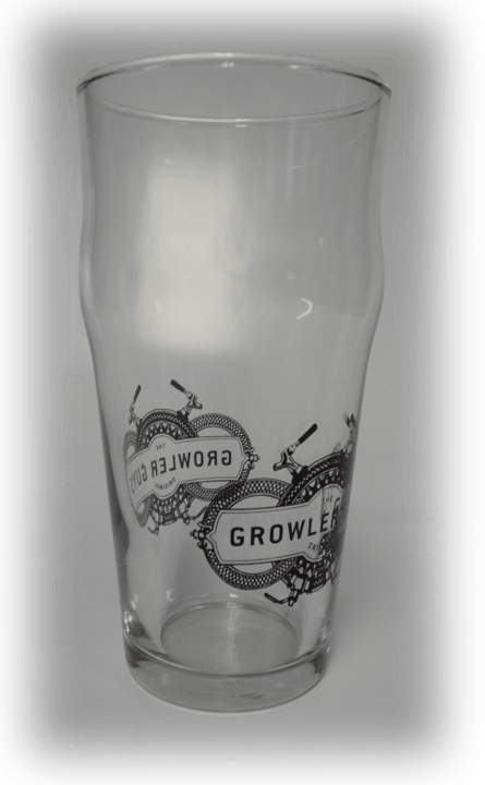 16oz English Pub Pint Glass - sold by Cascade Graphics