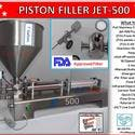 Jet-500 Single Head Air & Electric Piston Filler Fills Paste, Liquids, Salsa,Peanut Butter