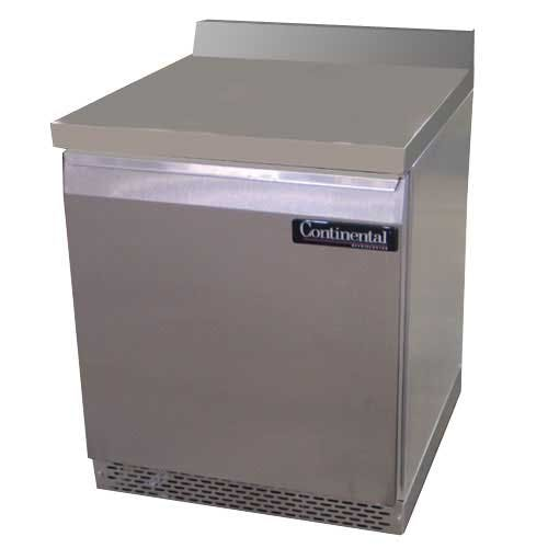"Continental Refrigerator - SW27-BS-FB 27"" Worktop Refrigerator Commercial refrigerator sold by Food Service Warehouse"