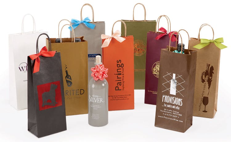 Paper Wine Bottle Bags Wine packaging sold by The Packaging Source, Inc.