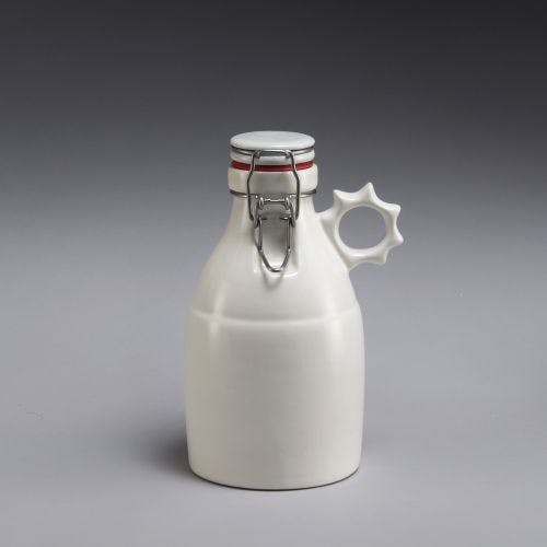 Sprocket Growlette - Gloss White 32oz Growler sold by Portland Growler Company
