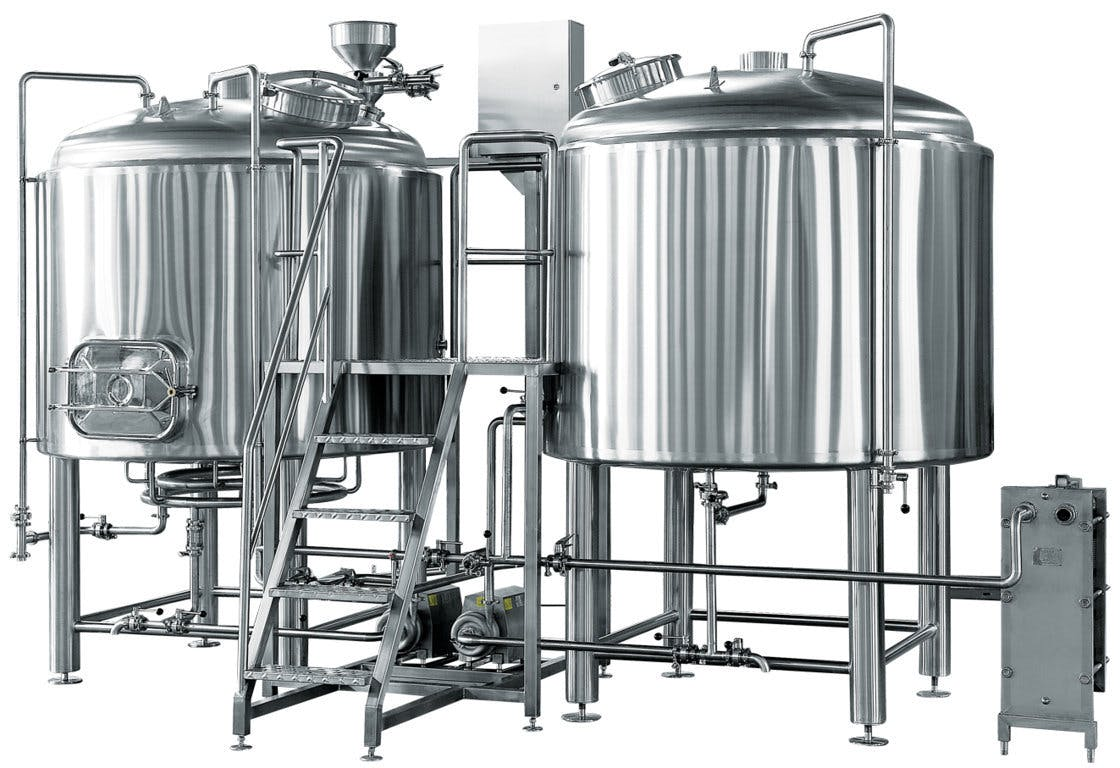 15 Barrel Brewing System – Steam Heated 3 vessel combo Brewhouse sold by BC Packaging Service Brew-Stuff