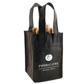 4 Bottle Wine/Beer Tote Bag