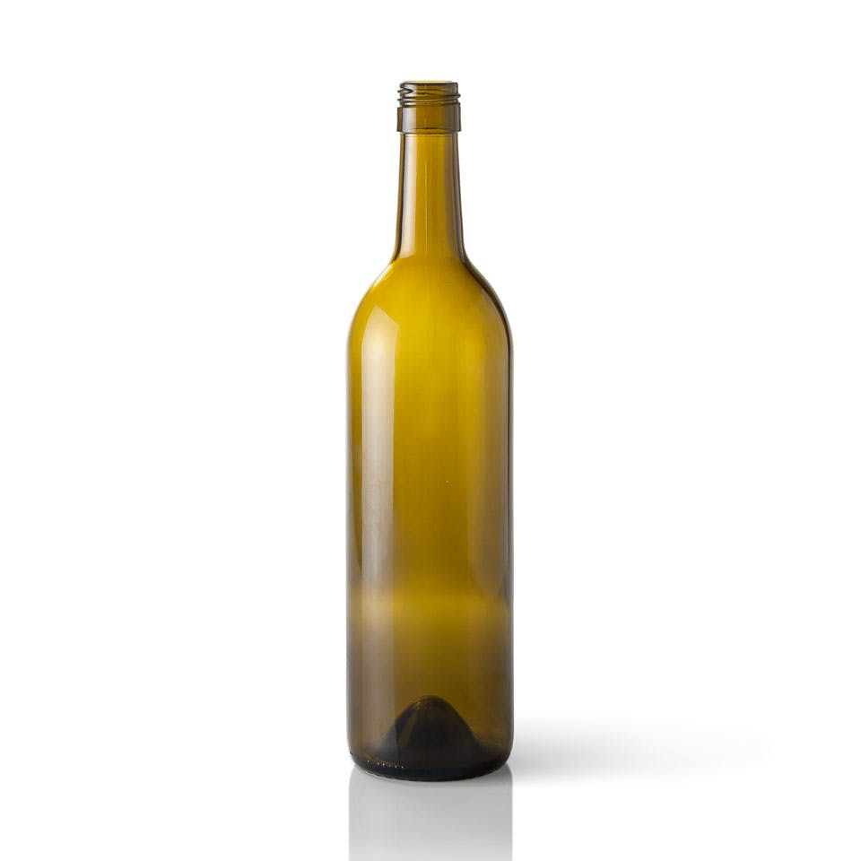 750 ml Antique Green Glass Claret Wine Bottle (Stelvin) Wine bottle sold by Packaging Options Direct