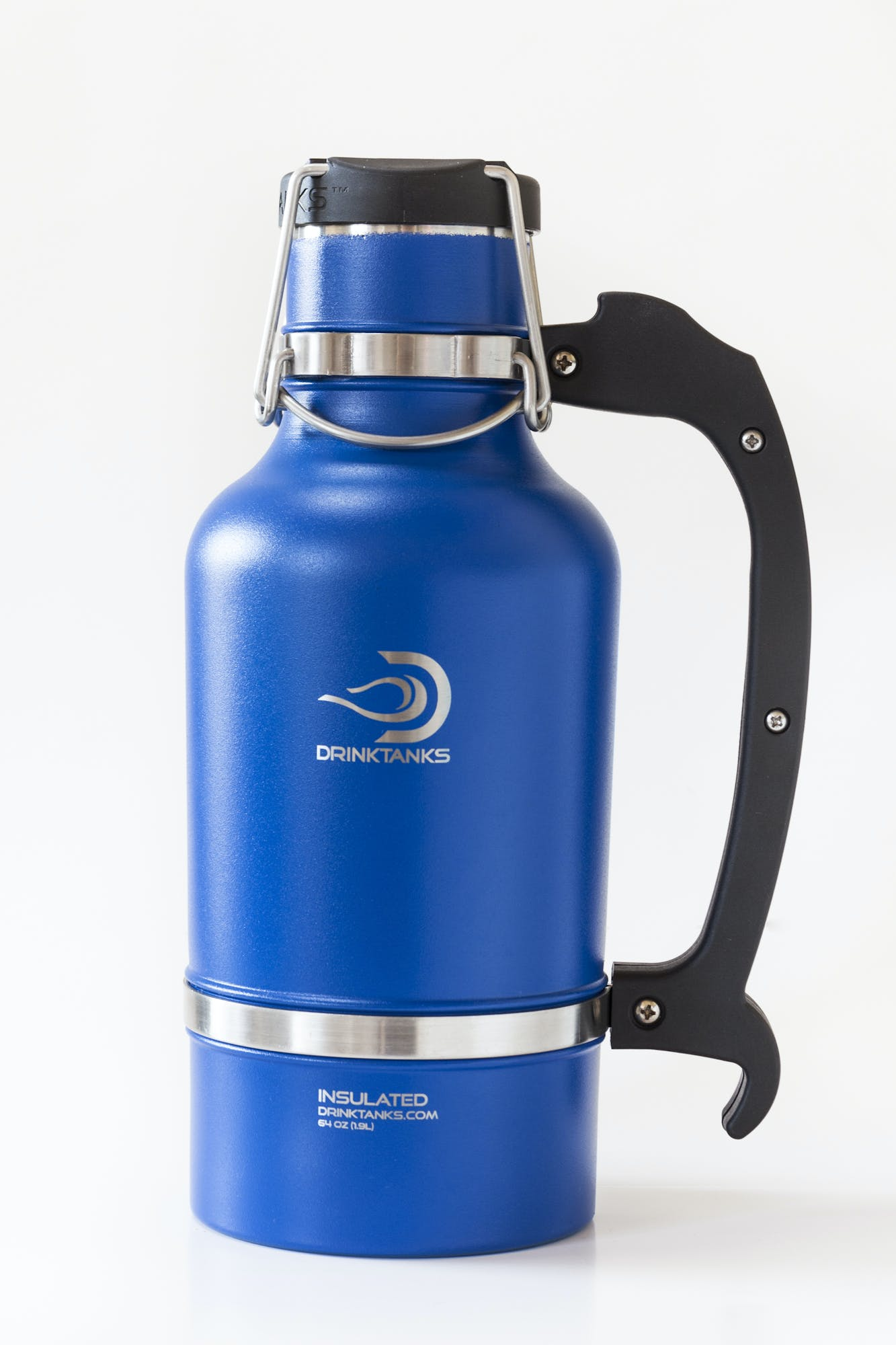 Drink Tanks Growler - Enjoy beer exactly as it was intended. Cold. Fresh. Carbonated. - 64oz Capacity (Blue) Growler sold by Drink Tanks