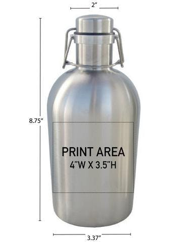 32 OZ. SS SWINGTOP GROWLER #SG-32 Growler sold by Clearwater Gear
