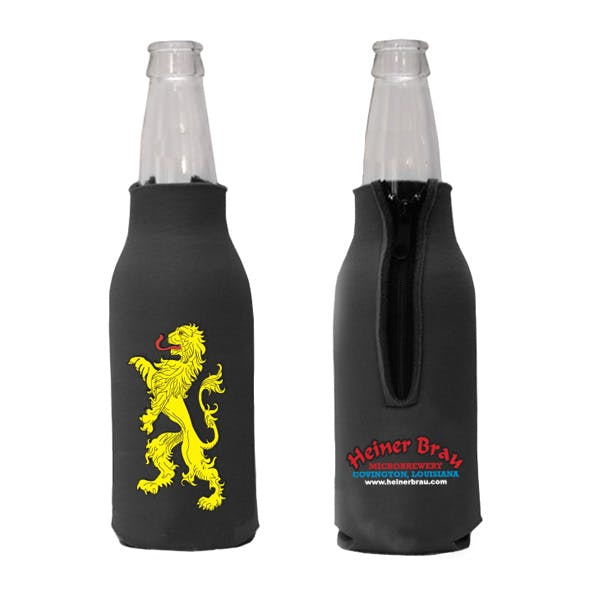 Zippered Bottle Coolie 4-Color Process Koozie sold by MicrobrewMarketing.com