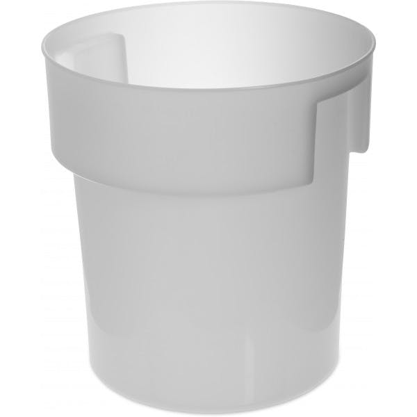18 qt. White Plastic Bains Marie Food Storage Container