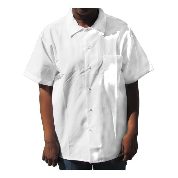 Large White Short Sleeve Cook Shirt