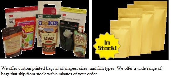Pre-made Bags & Rollstock Film Bag sold by Peak Equipment