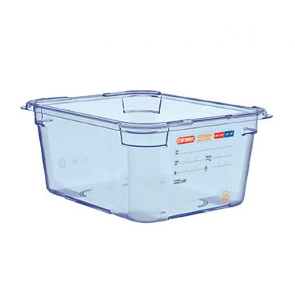 27.58 qt. Full Size Translucent Blue Airtight Food Storage Container