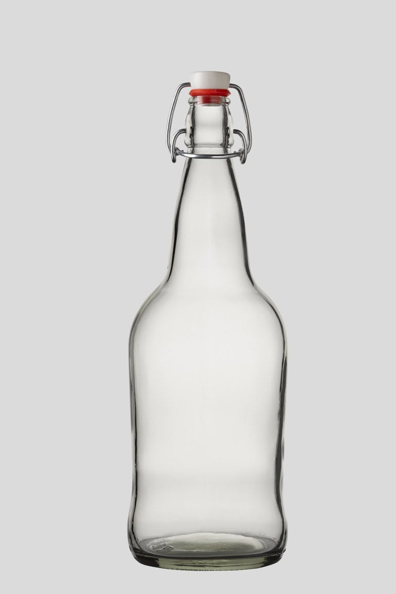 1 Liter Flint E.Z.Cap Swing/Flip Top Glass Bottles