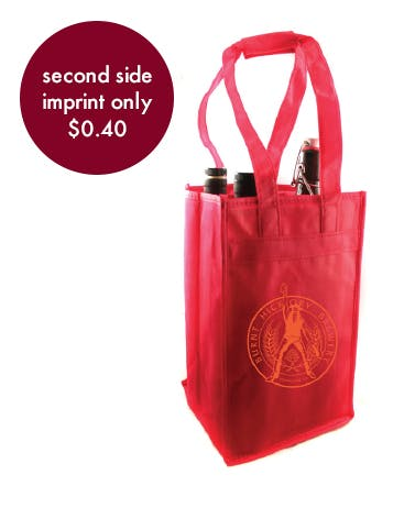 Beer & Wine Bag - 4 Count Promotional product sold by Prestige Glassware