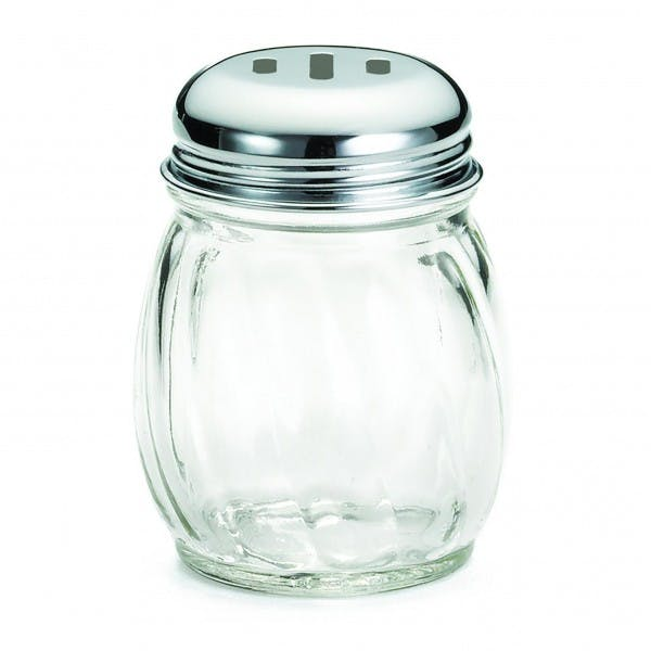 6 oz. Slotted Top Glass Cheese Shaker