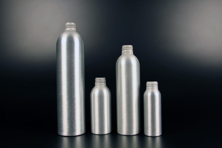 Sample Aluminium Bottles Aluminum bottle sold by APAK Packaging Group