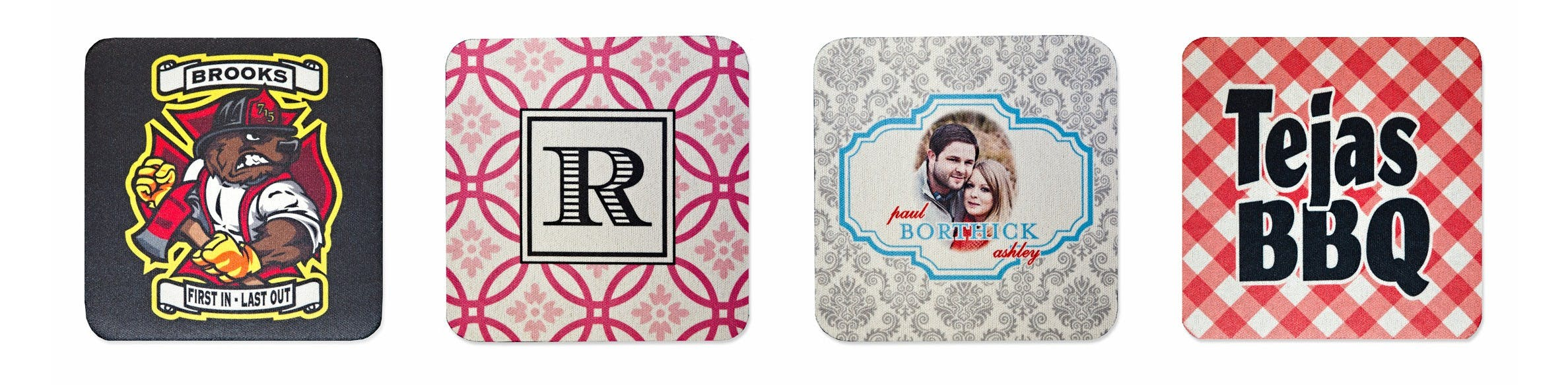 Neoprene Coasters - Pulpboard and Neoprene Drink Coasters - sold by Cup of Arms