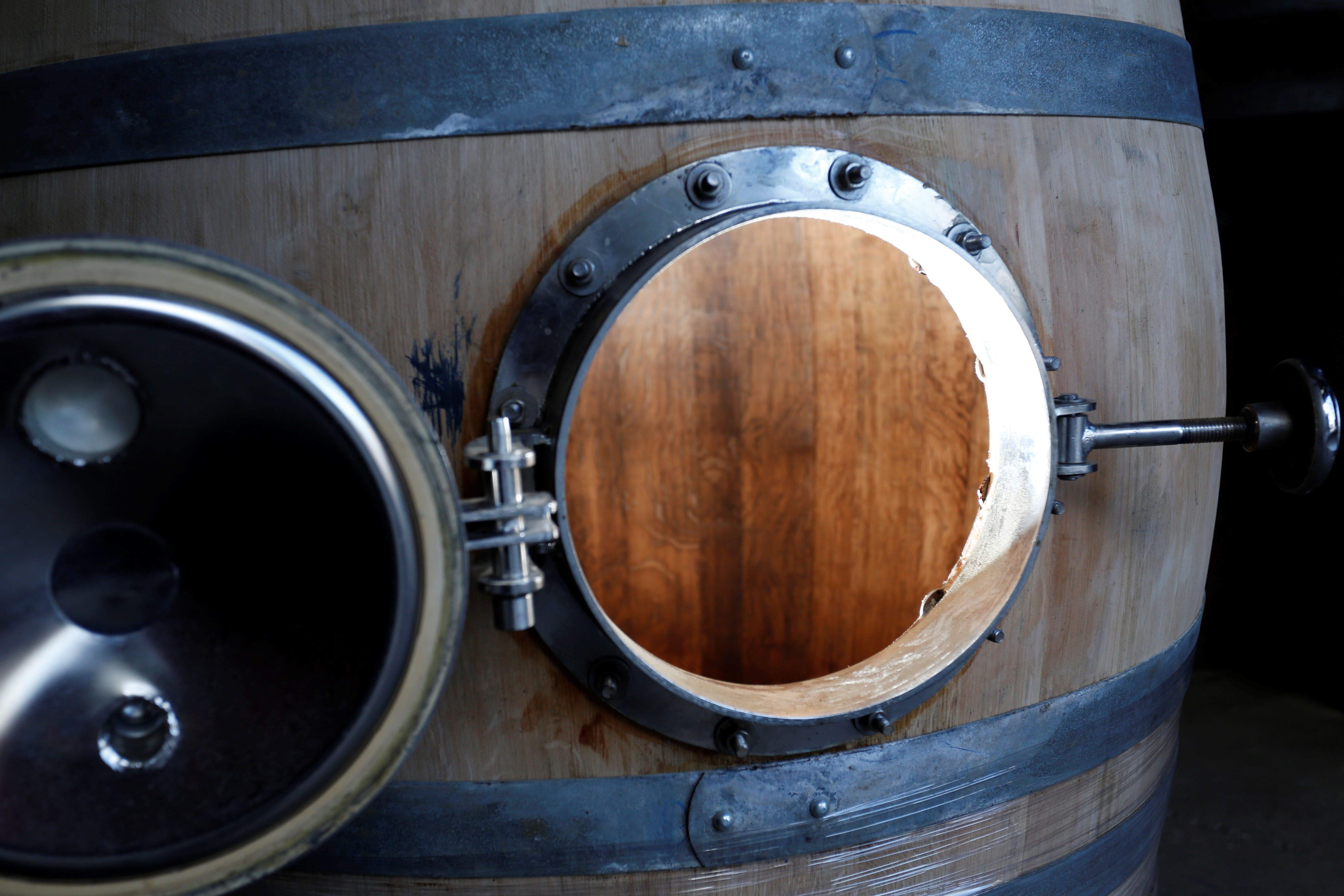 USED, 600L/159-gal mini-fermentor (small tank). Imported from Europe.  - USED Wine Puncheons (400L to 600L) - sold by Rocky Mountain Barrel Company