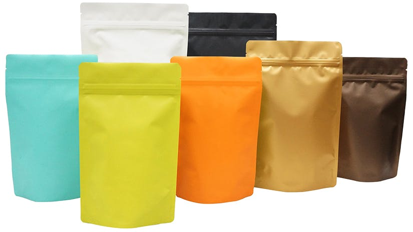 Matte Stand Up Pouches - sold by Sealer Sales