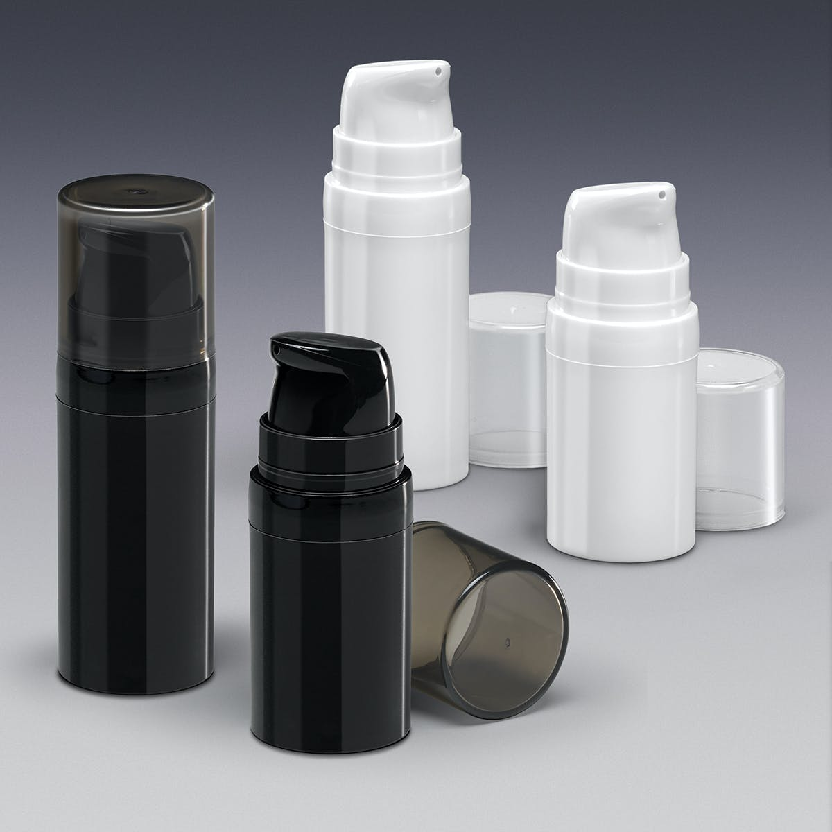 Airless Bottle Collection Cosmetics bottle sold by Qosmedix