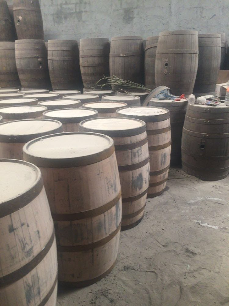 Used 200L 53 Gal white oak barrel  Barrel sold by The American Barrels