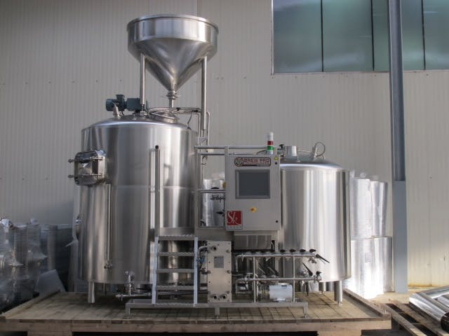 BREWHOUSE FOR SALE FROM 2.5 BBL up to 30 BBL Brewhouse sold by Prospero Equipment Corp.