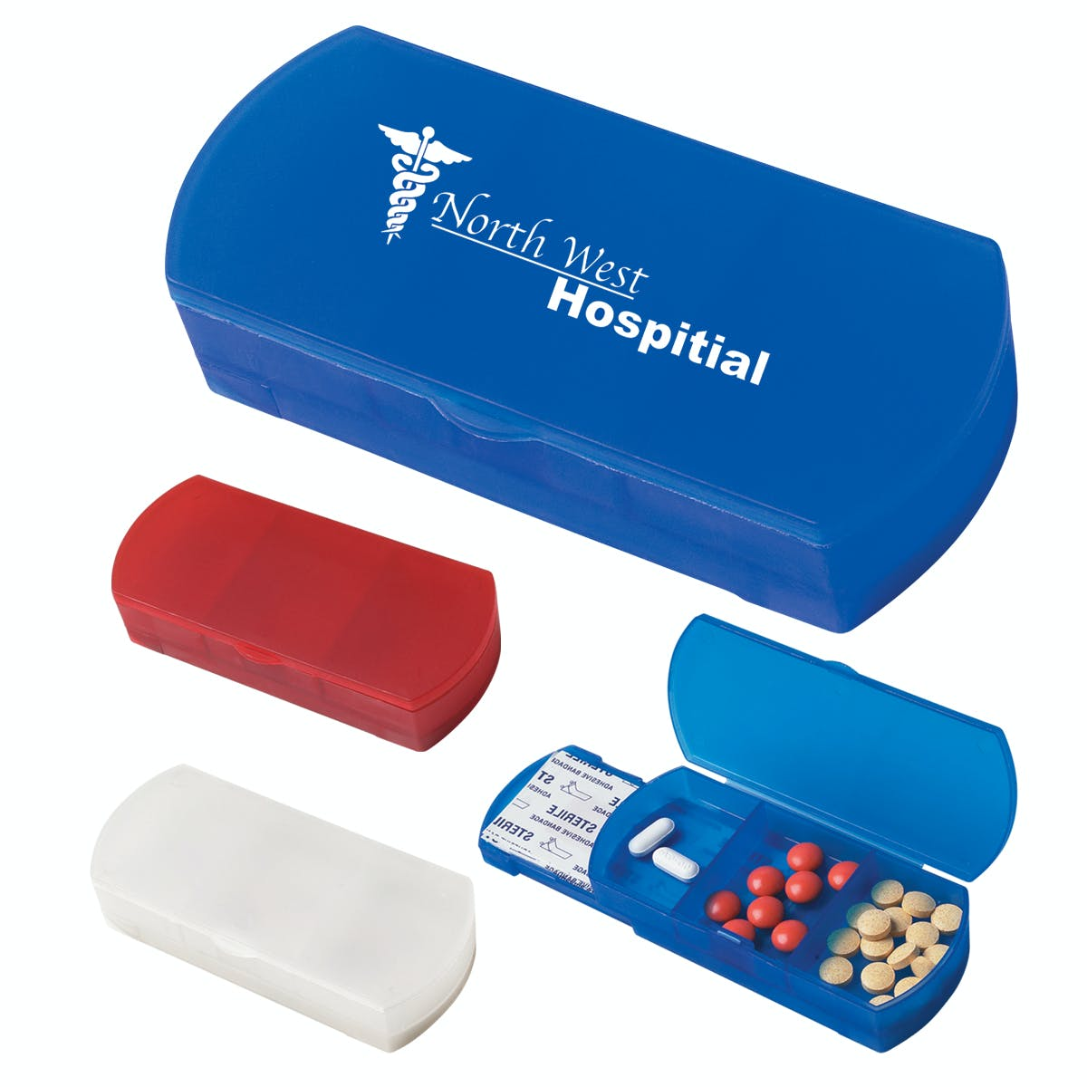 Pill Box/Bandage Dispenser (Item # EBMLL-GHFWK) Custom packaging sold by InkEasy