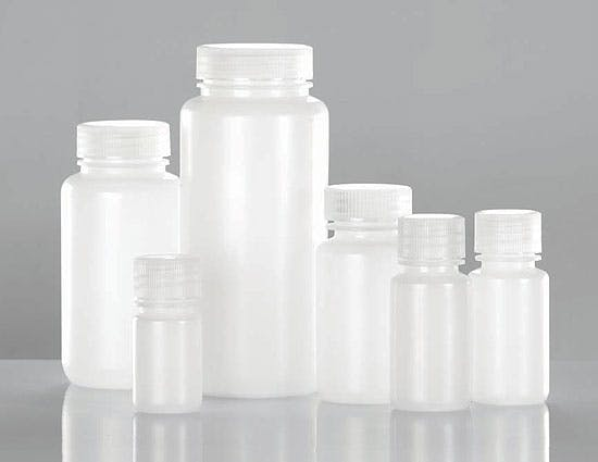 Natural Polypro Leak Proof Wide Mouth Water Bottles w/ Screw Caps ...
