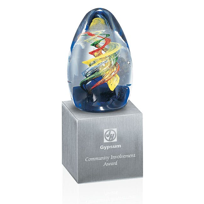 Cassiopeia glass award by Jaffa® Award sold by Distrimatics, USA