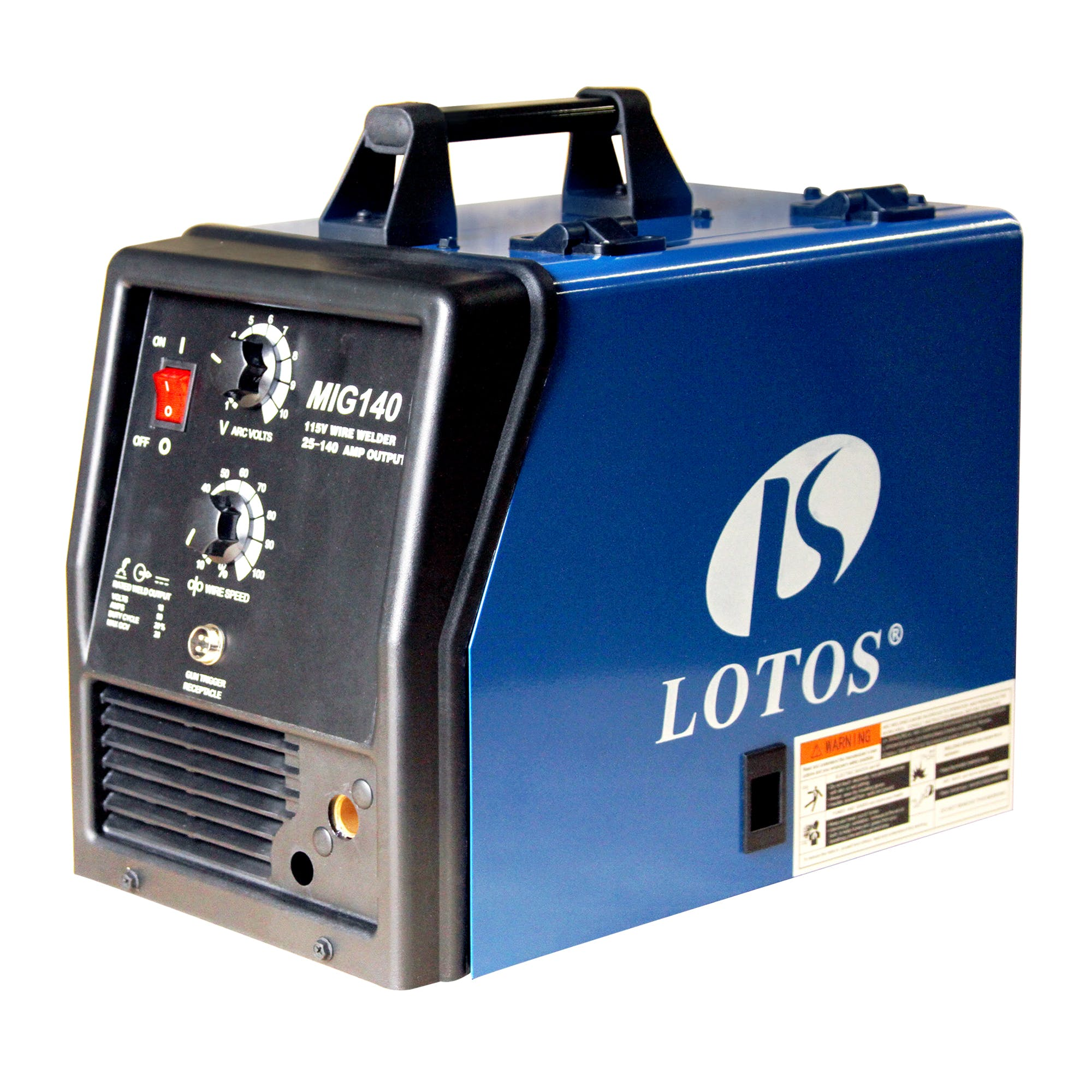 LOTOS MIG140 140A MIG Welder with SPOOL GUN Welder sold by LOTOS Technology