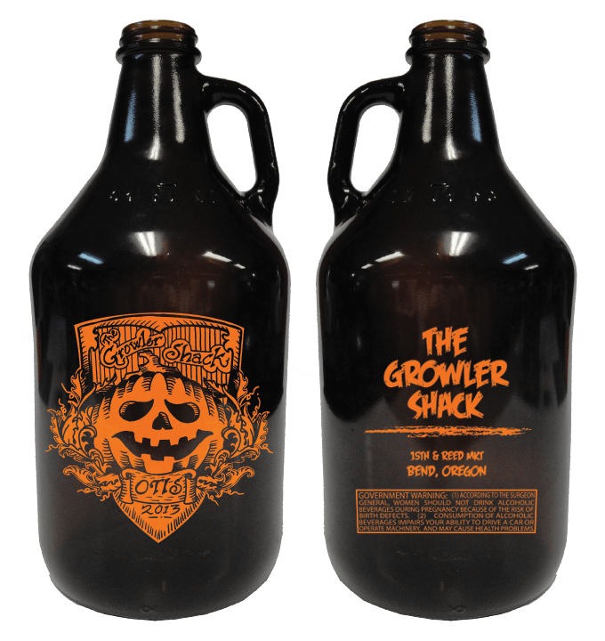 64oz Amber Growler Growler sold by Cascade Graphics